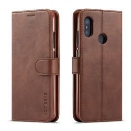 Luxe Book Case Xiaomi Mi A2 Lite Hoesje - Donkerbruin