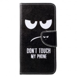 Book Case Huawei P30 Lite Hoesje - Don't Touch