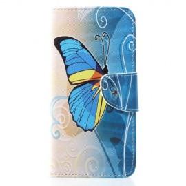 Book Case Huawei P30 Lite Hoesje - Blauwe Vlinder