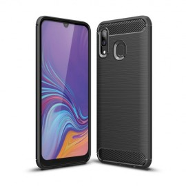 Armor Brushed TPU Samsung Galaxy A40 Hoesje - Zwart