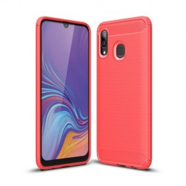 Armor Brushed TPU Samsung Galaxy A40 Hoesje - Rood