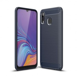 Armor Brushed TPU Samsung Galaxy A40 Hoesje - Donkerblauw