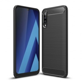 Armor Brushed TPU Samsung Galaxy A70 Hoesje - Zwart