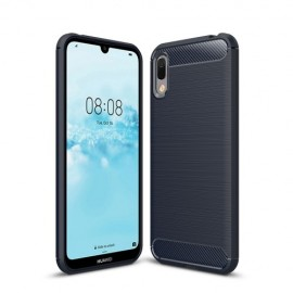 Armor Brushed TPU Huawei Y6 (2019) Hoesje - Donkerblauw