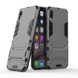 Armor Kickstand Huawei Y6 (2019) Hoesje - Grijs