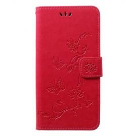 Bloemen Book Case Samsung Galaxy A50 / A30s Hoesje - Roze