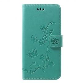 Bloemen Book Case Samsung Galaxy A50 Hoesje - Cyan