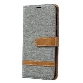 Denim Book Case Samsung Galaxy A40 Hoesje - Grijs