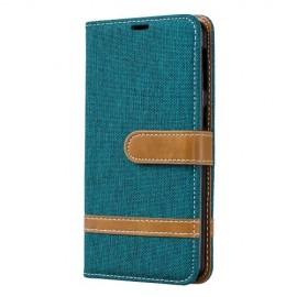 Denim Book Case Samsung Galaxy A40 Hoesje - Groen
