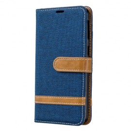 Denim Book Case Samsung Galaxy A40 Hoesje - Blauw
