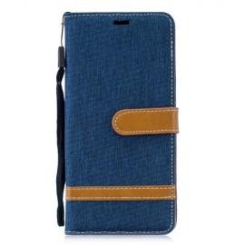 Denim Book Case Huawei P30 Pro Hoesje - Blauw