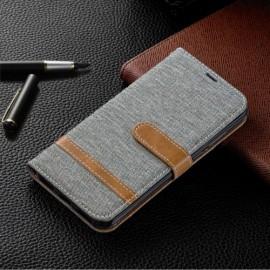 Denim Book Case Huawei Y6 (2019) / Y6s Hoesje - Grijs