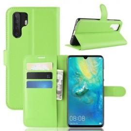Book Case Huawei P30 Pro Hoesje - Groen