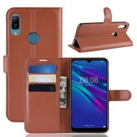 Book Case Huawei Y6 (2019) Hoesje - Bruin