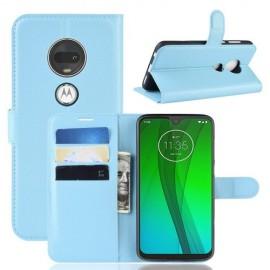 Book Case Motorola Moto G7 / G7 Plus Hoesje - Lichtblauw