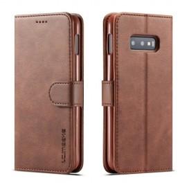 Luxe Book Case Samsung Galaxy S10e Hoesje - Donkerbruin