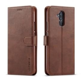 Luxe Book Case Huawei Mate 20 Lite Hoesje - Donkerbruin