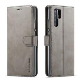 Luxe Book Case Huawei P30 Pro Hoesje - Grijs