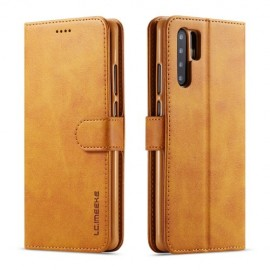 Luxe Book Case Huawei P30 Pro Hoesje - Bruin