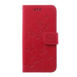Bloemen Book Case Samsung Galaxy A40 Hoesje - Roze