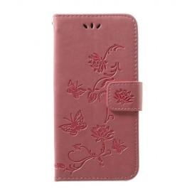 Bloemen Book Case Samsung Galaxy A40 Hoesje - Pink
