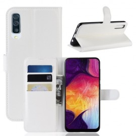 Book Case Samsung Galaxy A50 Hoesje - Wit