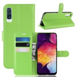 Book Case Samsung Galaxy A50 Hoesje - Groen
