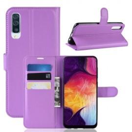 Book Case Samsung Galaxy A50 Hoesje - Paars