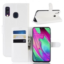 Book Case Samsung Galaxy A40 Hoesje - Wit