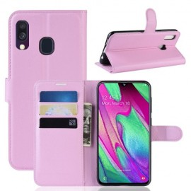 Book Case Samsung Galaxy A40 Hoesje - Pink