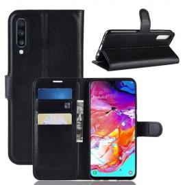 Book Case Samsung Galaxy A70 Hoesje - Zwart