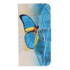 Book Case Samsung Galaxy A40 Hoesje - Blauwe Vlinder