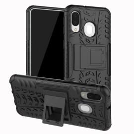 Rugged Kickstand Samsung Galaxy A40 Hoesje - Zwart