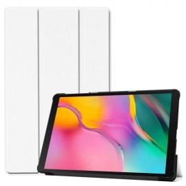 Smart Book Case Samsung Galaxy Tab A 10.1 (2019) Hoesje - Wit