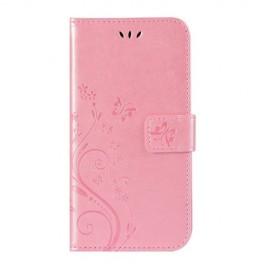 Bloemen Book Case Huawei Y6 (2019) / Y6s Hoesje - Pink