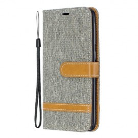 Denim Book Case Samsung Galaxy A20e Hoesje - Grijs