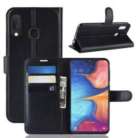 Book Case Samsung Galaxy A20e Hoesje - Zwart