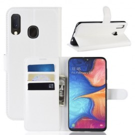 Book Case Samsung Galaxy A20e Hoesje - Wit
