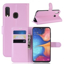 Book Case Samsung Galaxy A20e Hoesje - Pink