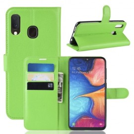 Book Case Samsung Galaxy A20e Hoesje - Groen