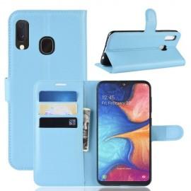 Book Case Samsung Galaxy A20e Hoesje - Lichtblauw