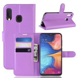 Book Case Samsung Galaxy A20e Hoesje - Paars