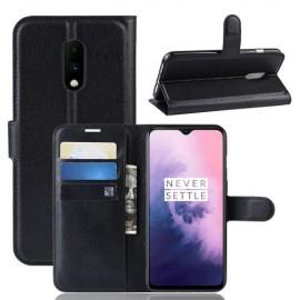 Book Case OnePlus 7 Hoesje - Zwart
