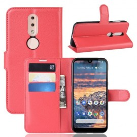 Book Case Nokia 4.2 Hoesje - Rood