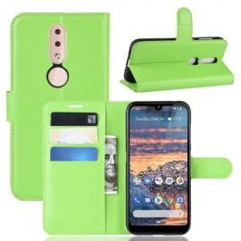 Book Case Nokia 4.2 Hoesje - Groen