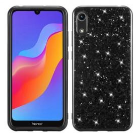 Glitter TPU Huawei Y6 (2019) Hoesje - Zwart