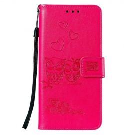 Uilen Book Case OnePlus 7 Hoesje - Roze