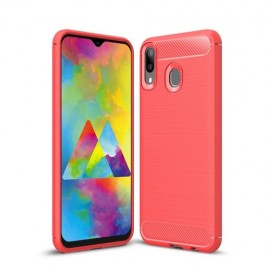Armor Brushed TPU Samsung Galaxy M20 (Power) Hoesje - Rood