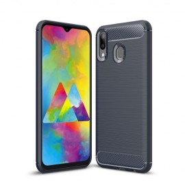 Armor Brushed TPU Samsung Galaxy M20 (Power) Hoesje - Blauw