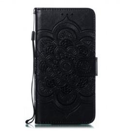 Bloemen Book Case Samsung Galaxy A20e Hoesje - Zwart